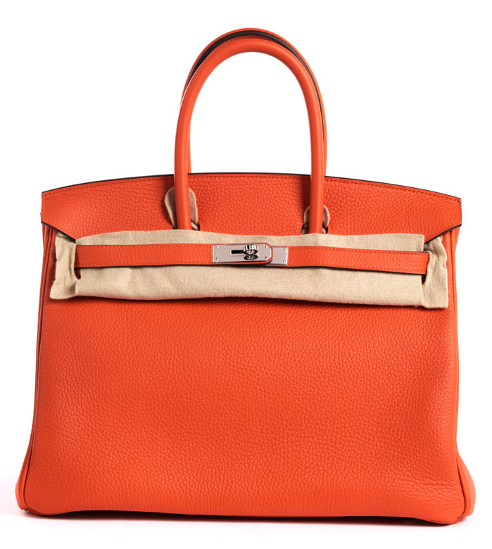 "Hermès Birkin Bag 35 cm ""Feu Orange"" - Hampel Fine Art Auctions b77cd262a9ff4"