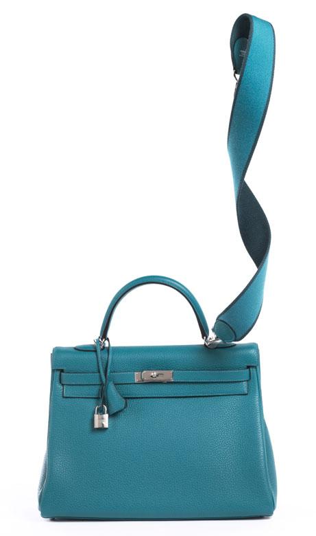 "Hermès Kelly Bag 35 cm ""Turquoise"""