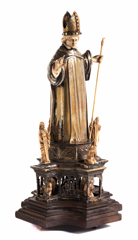 Silberne Bischofsfigur