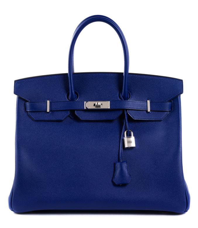 "Hermès Birkin Bag 35 cm ""Bleu Electrique"""