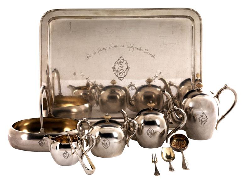 Teeservice mit einer Fabergé Marke