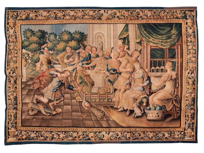 Bedeutender Gobelin der Manufacture royale mit Szenerie aus der Geschichte des Odysseus