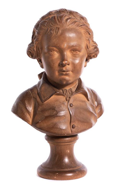 Knabenbüste nach Modell von Augustin Pajou, 1730 Paris - 1809