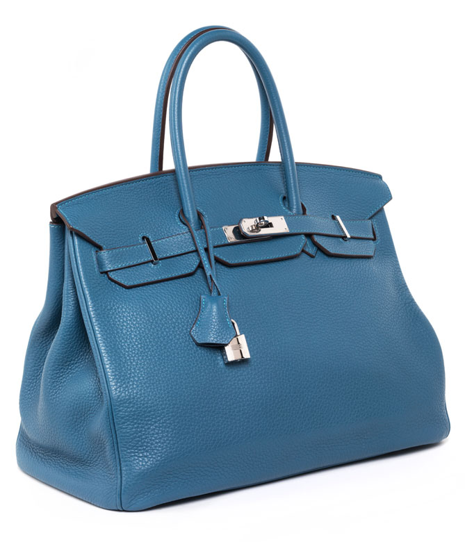 "† Hermès Birkin Bag 35 cm ""Mykonos"""