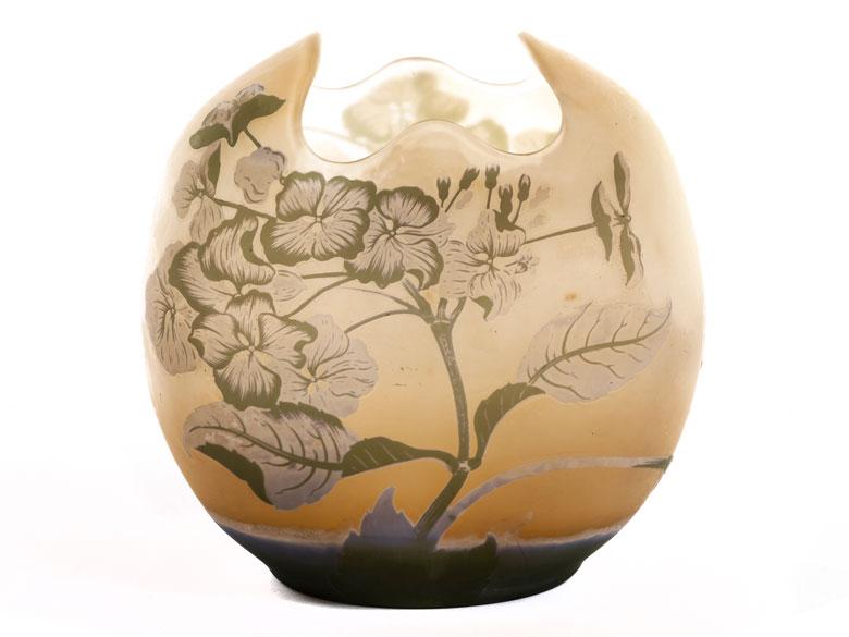 Vase von Émile Gallé mit Hortensiendekor