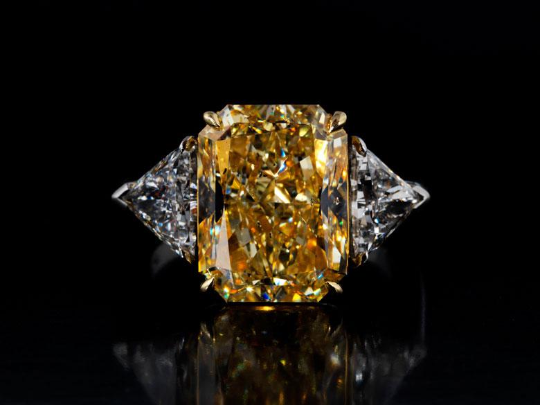 Fancy Yellow Diamantring