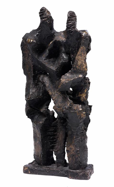 Bronzeskulptur COUPLE