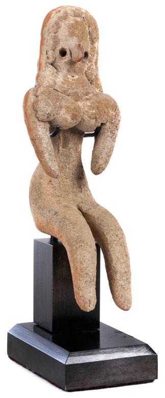 Weibliche Idolfigur der Industal-Kultur