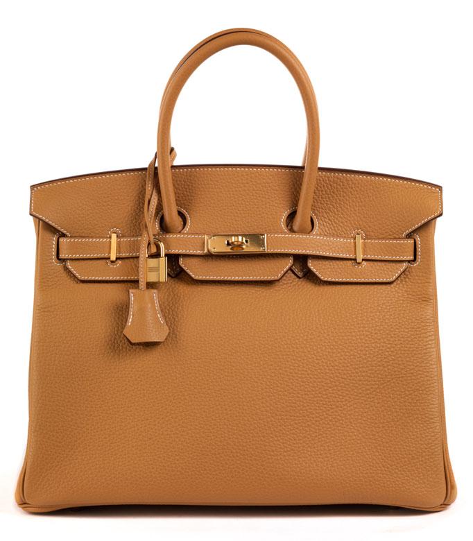 "Hermès Birkin Bag 35 cm ""Natural Sable"""