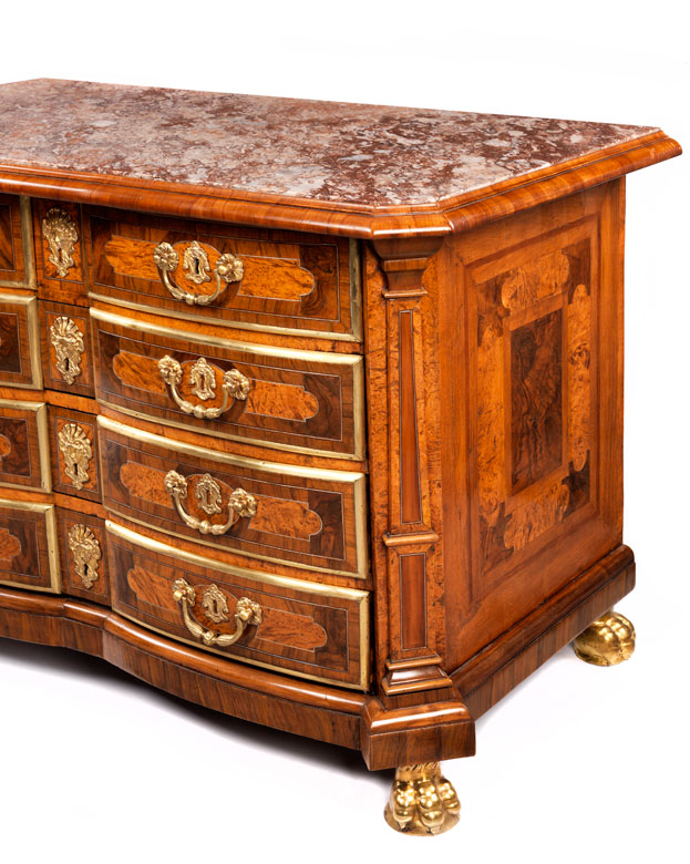 imposante barock kommode hampel fine art auctions. Black Bedroom Furniture Sets. Home Design Ideas