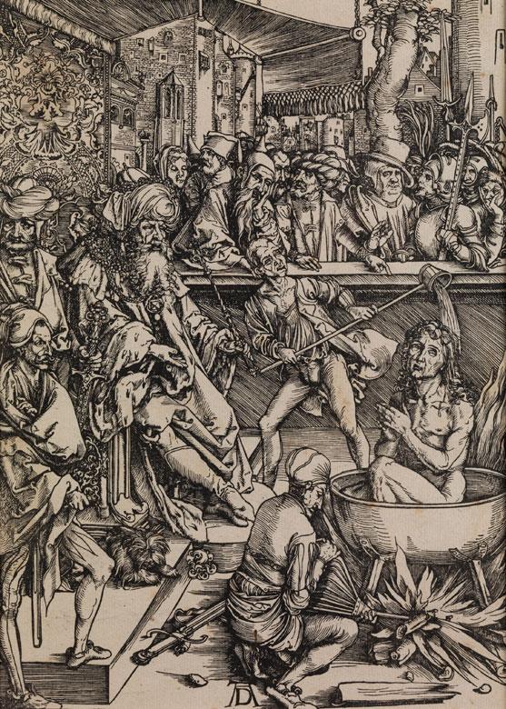 Großer Holzschnitt nach Albrecht Dürer