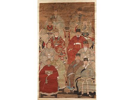 Chinesisches Ahnenportrait als Rollbild