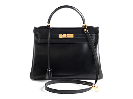 "Hermès Kelly Bag 32 cm ""Black Box"""