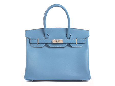 "Hermès Birkin Bag 30 cm ""Bleu Paradis"""