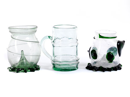 Konvolut von drei verschiedenen Gläsern