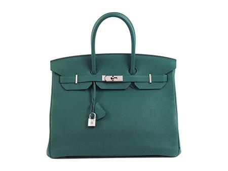 "Hermès Birkin Bag 35 cm ""Malachite"""