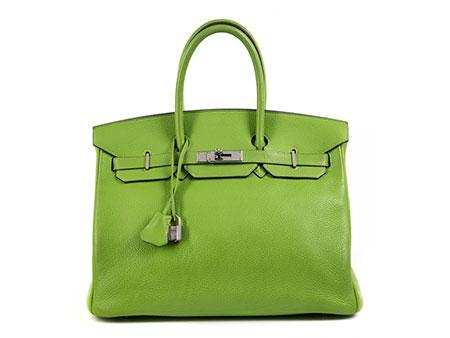 """† Hermès Birkin Bag 35 cm """"Vert Cru"""""""