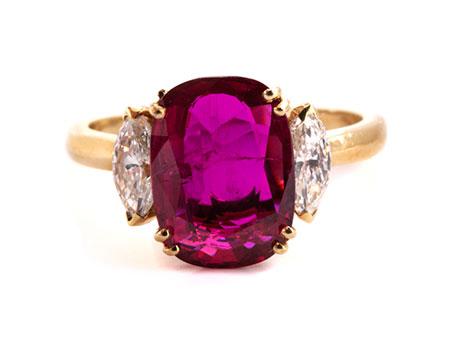 Rubin-Diamantring von Bucherer