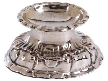 Silberne barocke Nürnberger Salière