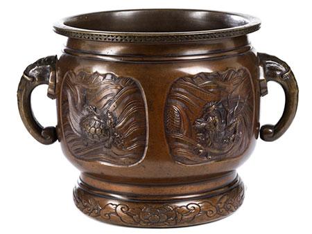 Chinesischer Bronze Koro