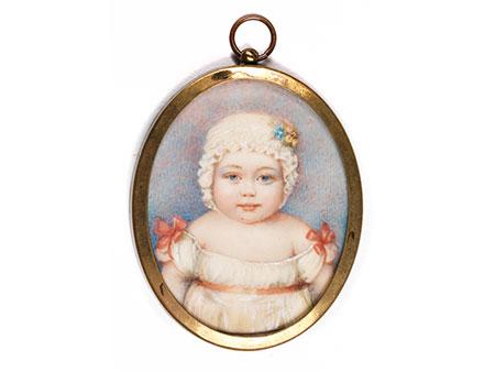 Miniaturbildnis eines Kleinkindes