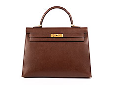 "† Hermès Kelly Bag 35 cm ""Havane"""