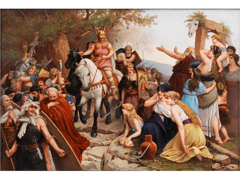 I. Fiedler, Deutscher Maler des 19. Jahrhunderts