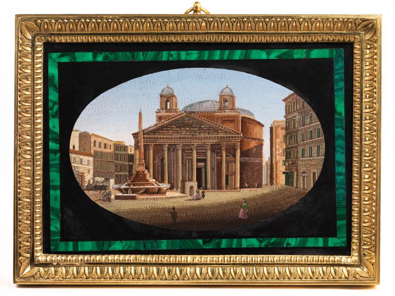 Mikromosaik mit Ansicht des Pantheons