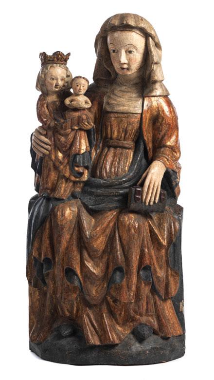 Geschnitzte Figurengruppe Anna Selbdritt