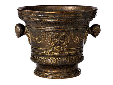 Großer, italienischer Bronzemörser