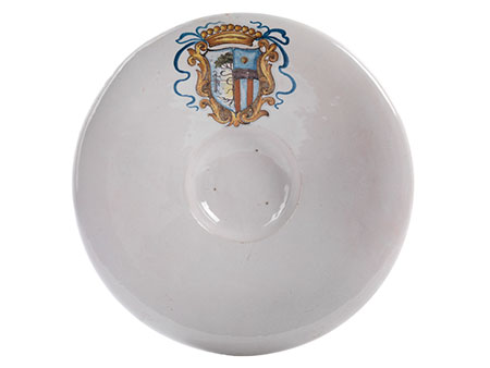 Majolika-Platte mit Wappen