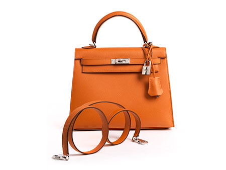 "Hermès Kelly Bag 25 cm ""Orange"""