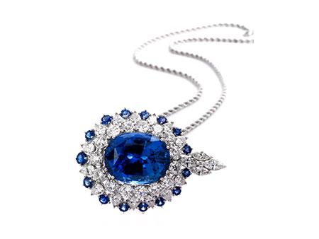 Saphir-Diamantanhänger