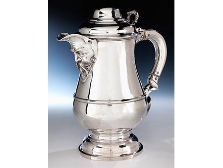 Großer viktorianischer Silberkrug