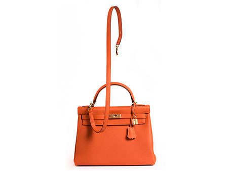 "Hermès Kelly Bag 32 cm ""Orange"""