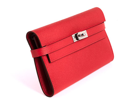 """Hermès Kelly Long Wallet """"Bougainvillea"""""""