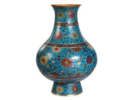 Große Cloisonné-Vase im Hu-Typus