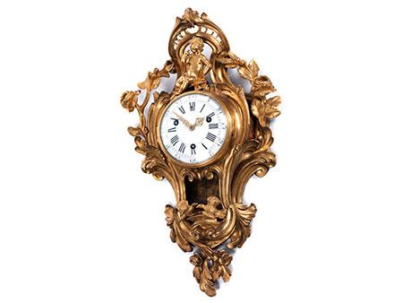 Große Louis XV-Cartelluhr