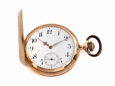 Goldene Savonnette Taschenuhr