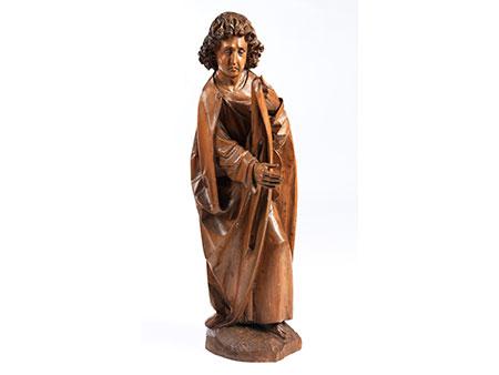 Schnitzfigur des Heiligen Johannes des Täufers