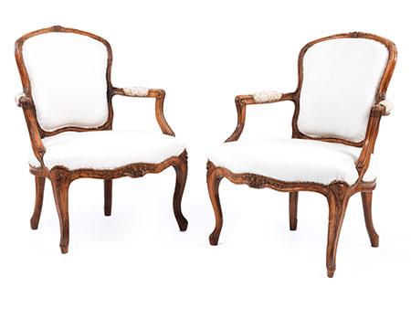 Paar Louis XV-Armlehnstühle