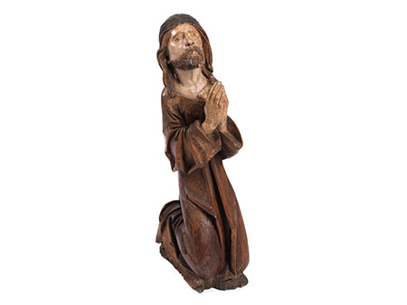 Schnitzfigur Christus am Ölberg