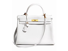 "Hermès Kelly Bag 35 cm ""White"""