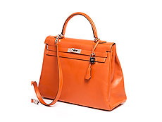 "† Hermès Kelly Bag 35 cm ""Feu"""