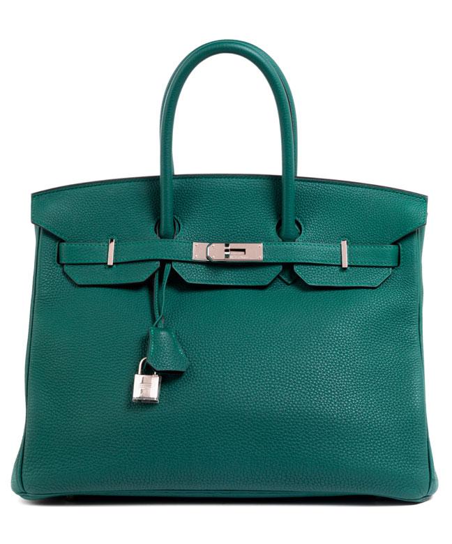 Hermès Birkin Bag 35 cm Malachite