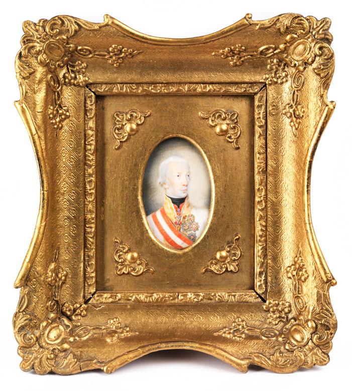 Miniatur des Kaisers Franz I. von Österreich
