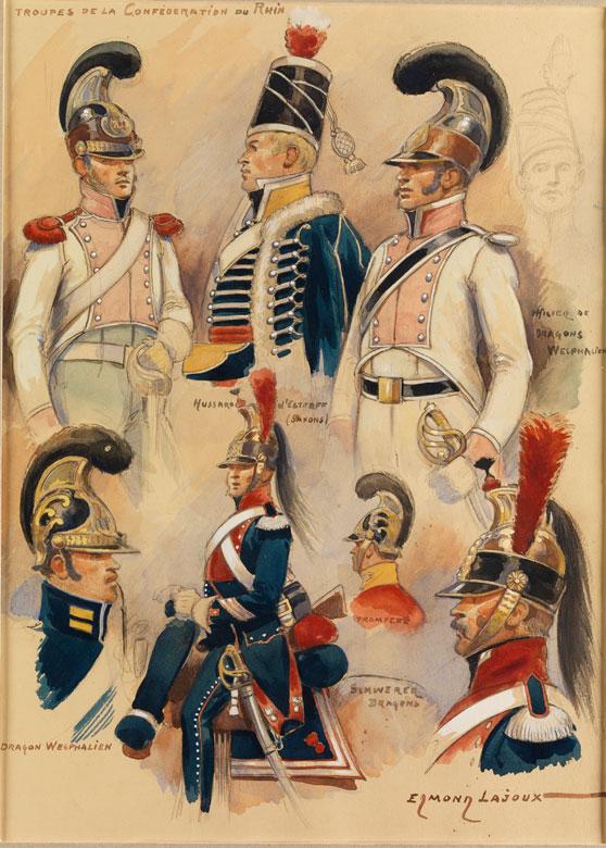 Edmond Lajoux, Französischer Maler des 19./ 20. Jahrhunderts