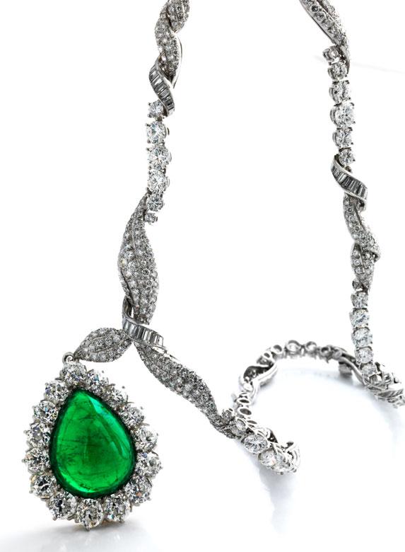 Samaragd-Diamantcollier von Verdura