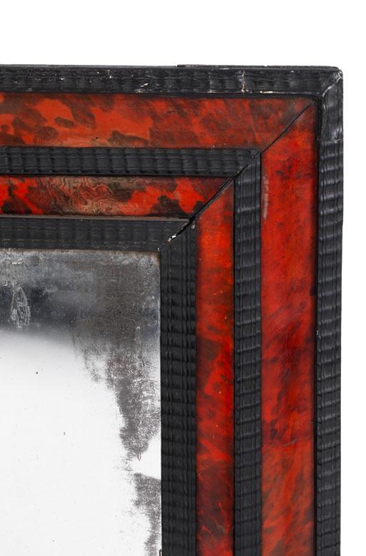 gro er spiegel mit schildpattauflagen auction. Black Bedroom Furniture Sets. Home Design Ideas