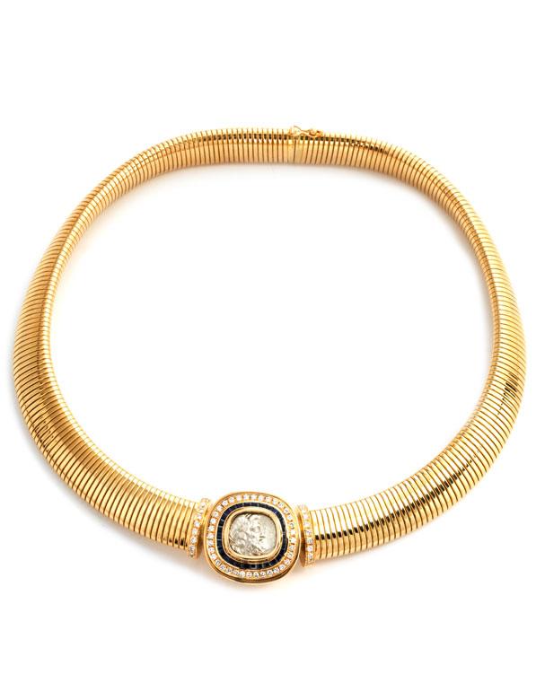 Gold-Brillant-Saphircollier